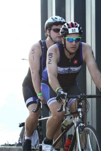 During the bike course of IRONMAN 70.3 Augusta 2016.