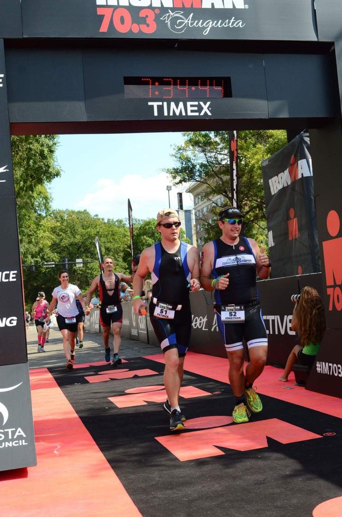Finish Line for IRONMAN 70.3 Augusta 2016